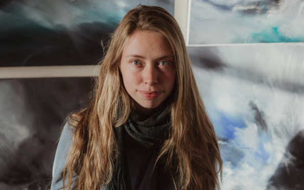 Artist Ellis O'Connor and some of her paintings inspired by the islands