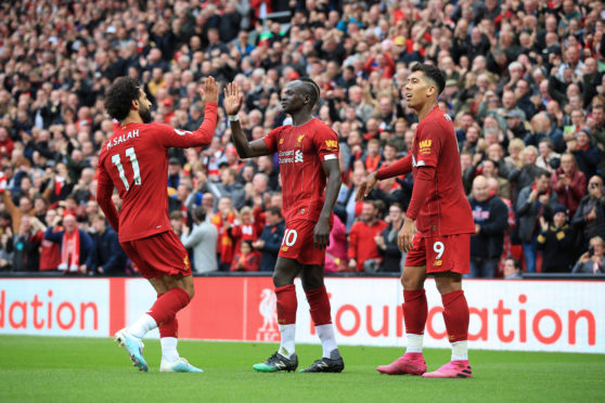 Sadio Mane, Mohamed Salah and Roberto Firmino have been in top form