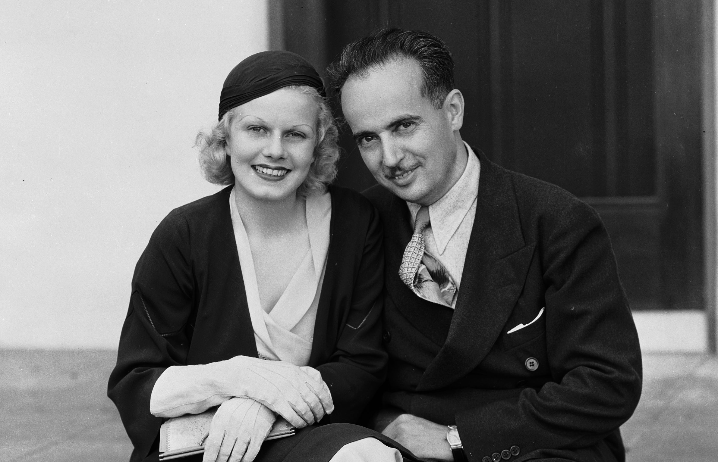 Jean Harlow with her second husband Paul Bern