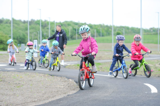 Children learn to ride at the Fife Cycle Park in Lochgelly