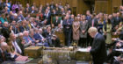 Prime Minister Boris Johnson delivers a statement in the House of Commons