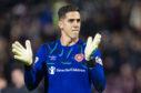 Hearts goalkeeper Joel Pereira