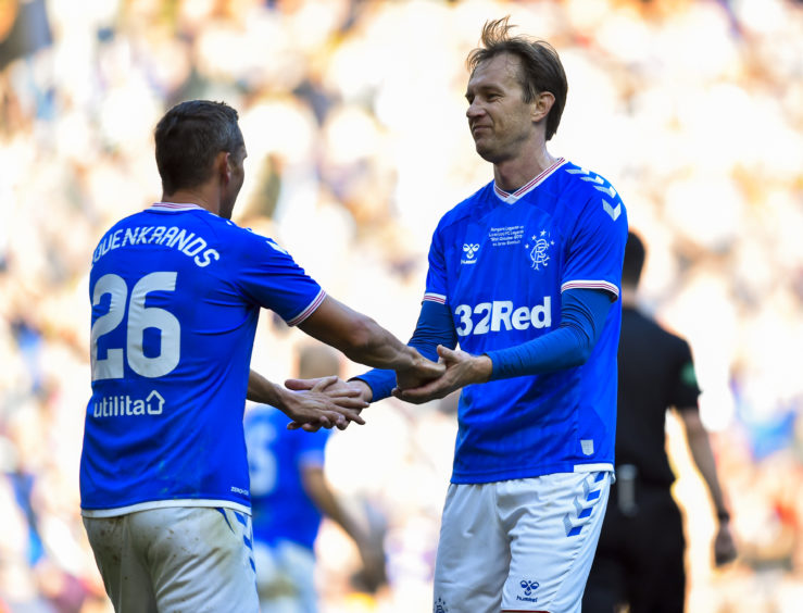 Papac with Peter Lovenkrands