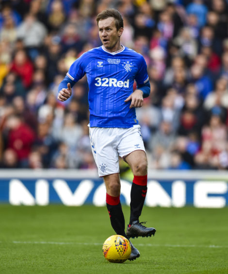 Defender Sasa Papac made a return to Ibrox