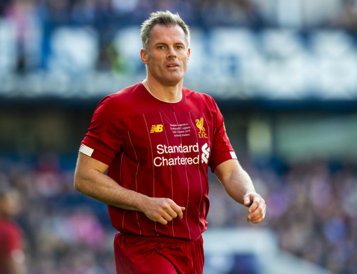 Jamie Carragher took to the field for Liverpool