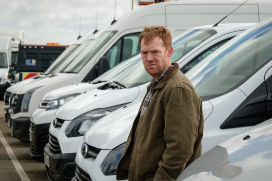 Kris Hitchen as struggling Ricky Turner, a delivery driver for an Amazon-style company