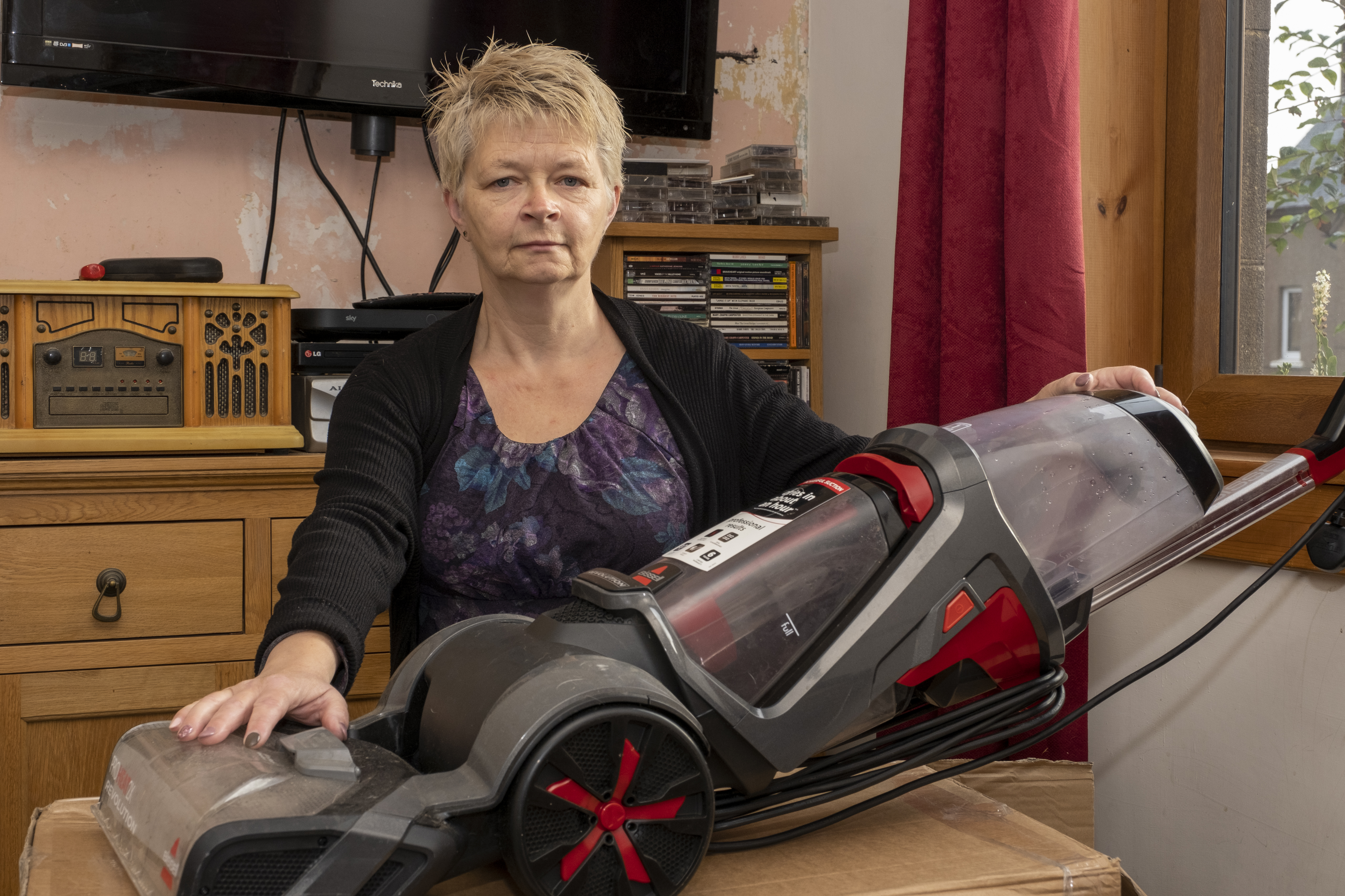 Shirley Brown with her Bissell carper cleaner