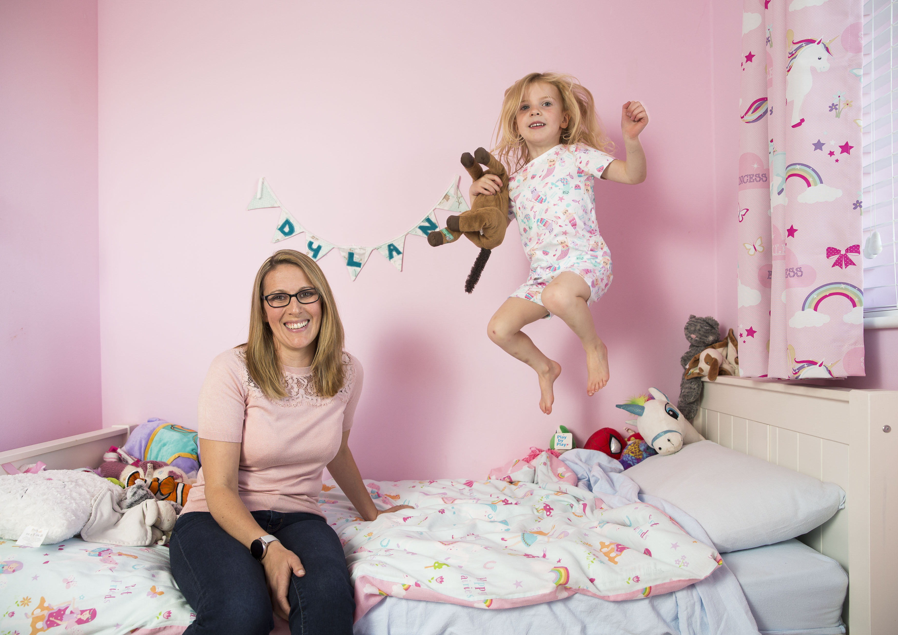 Sleep consultant Jennifer Pritchard and daughter Dylan.