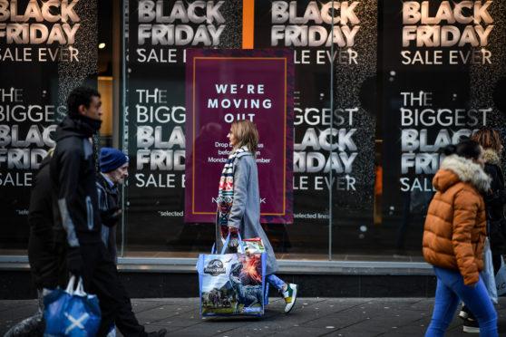 Black Friday on Buchanan Street, Glasgow