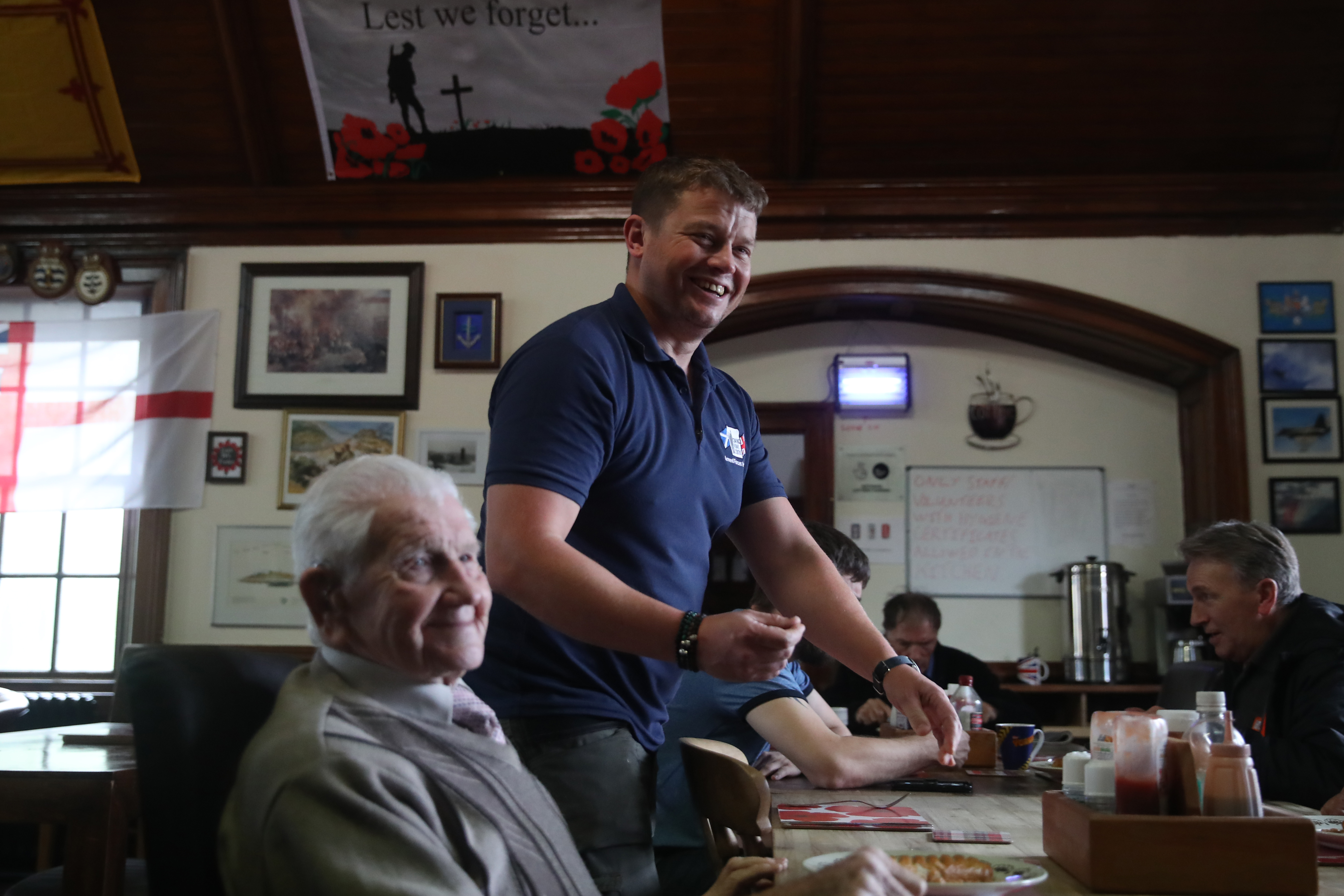 Adam Edwards works closely with veterans of all ages at The Coming Home Centre