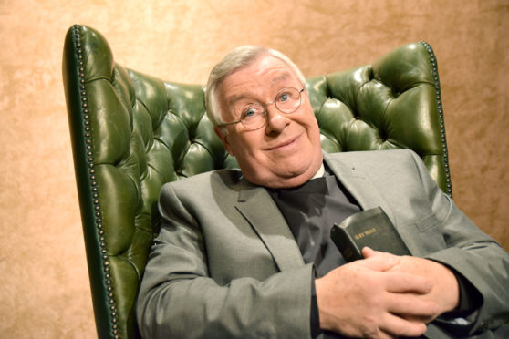 Gregor Fisher as Rikki Fulton's iconic character Rev I.M. Jolly for a special appearance on Hogmanay.