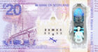 The back of the Bank of Scotland's new commemorative £20 banknote, which has been unveiled celebrating the Queensferry Crossing over the Firth of Forth.