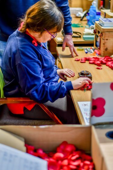 Royal Blind pupils visit Lady Haig's Poppy Factory
