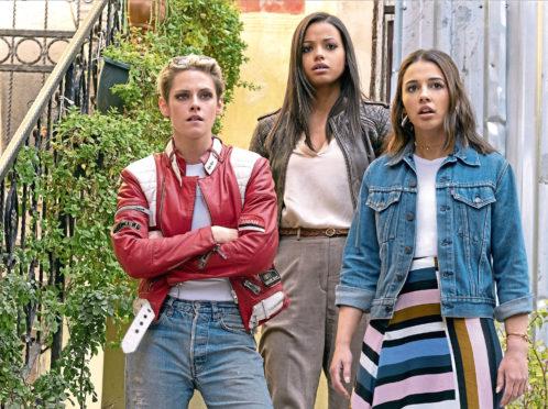 Kristen Stewart, Ella Balinska, and Naomi Scott in Charlie's Angels.