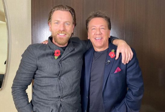 Ewan McGregor with Ross in LA last week