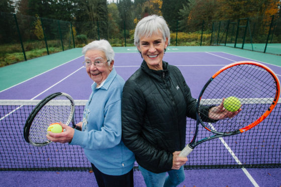 92 year old Elspeth Dick with Judy Murray