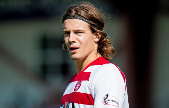 Markus Fjortoft in action for Hamilton