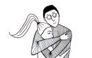 Hugging Em, an illustration from Mark Simmonds' book
