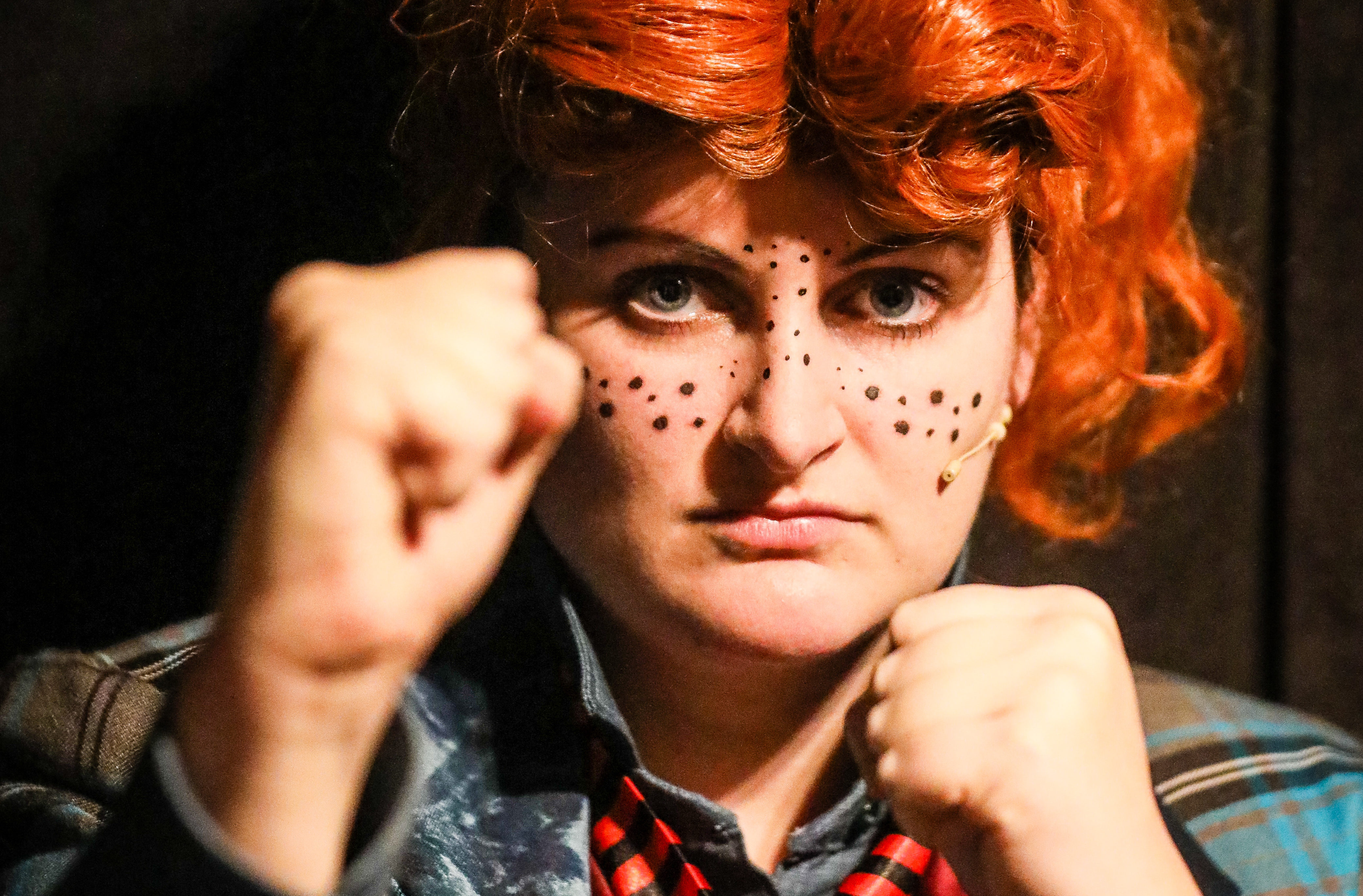 Leanne Traynor as Basher McKenzie in Oor Wullie The Musical