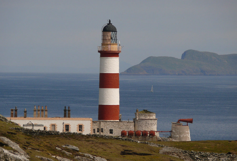 Eilean Glas lighthouse in the outer Hebrides