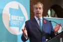 Nigel Farage at the Brexit Party's General Election campaign launch