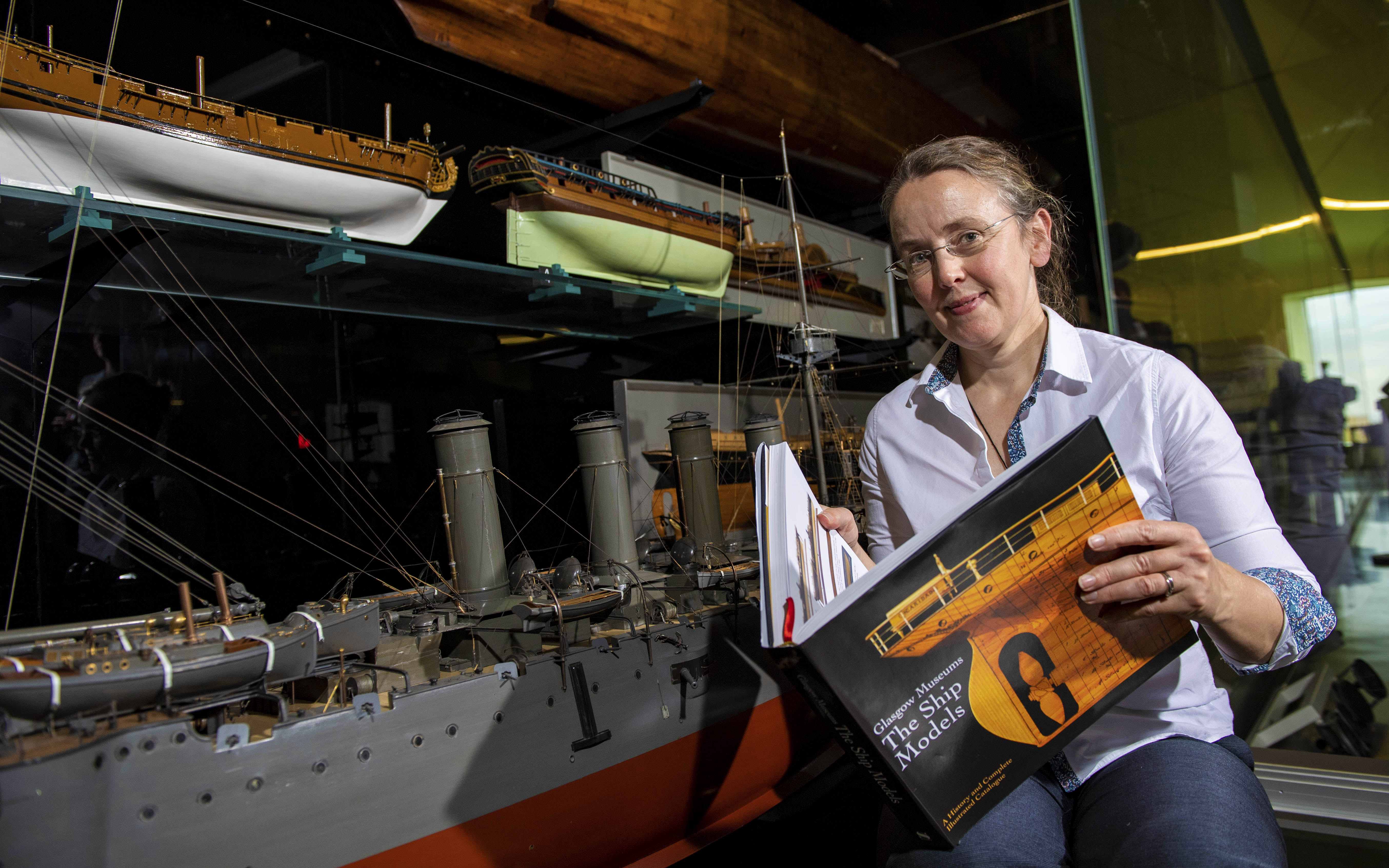 Lead author and curator of Glasgow Museums' ship model collection Emily Malcolm