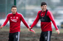 Scott McKenna training alongside Andy Considine