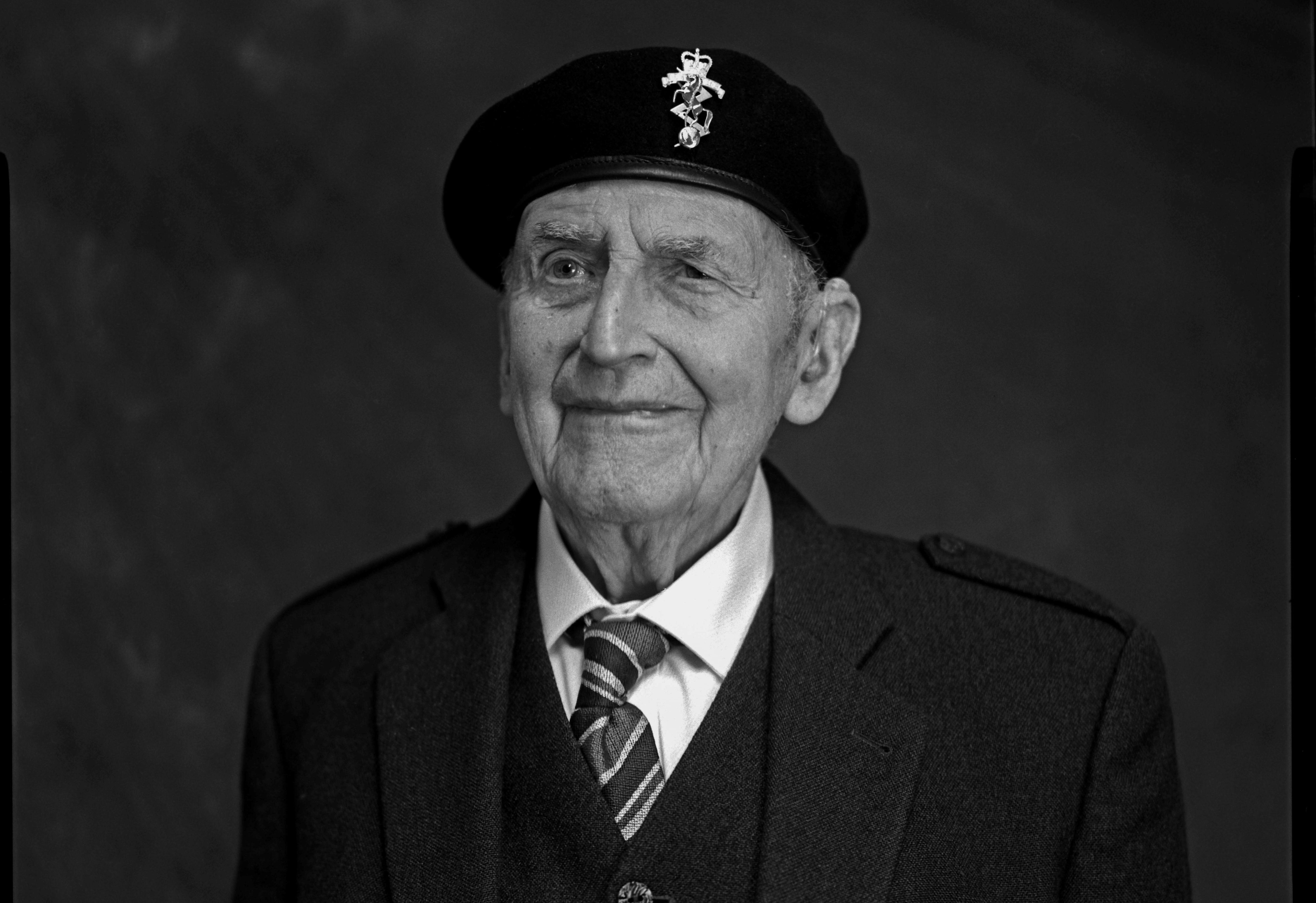 John McOwan, 98, from Peebles,