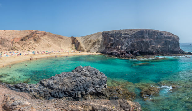A beautiful beach in Playa Blanca