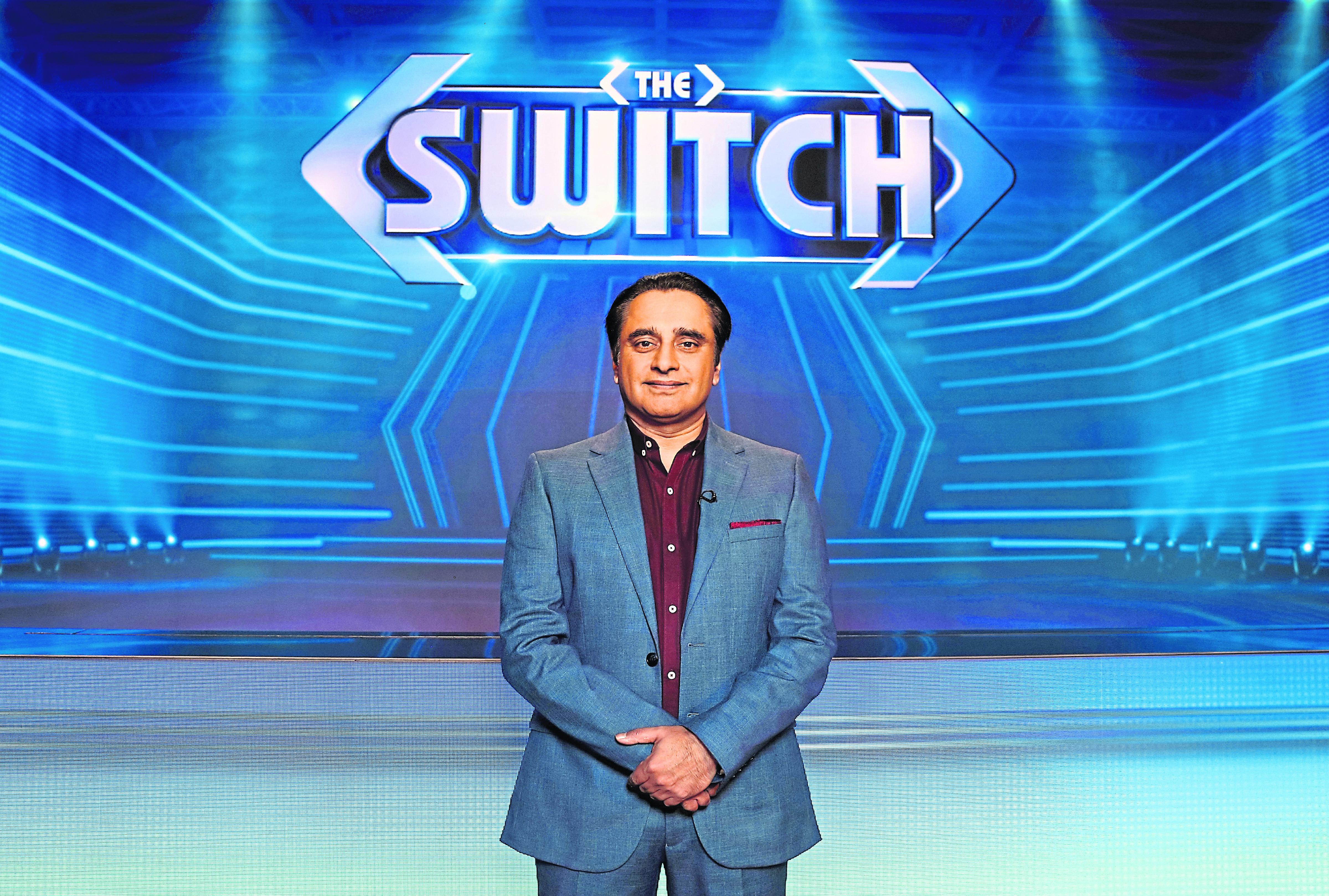 Sanjeev Bhaskar presents The Switch.  Weekdays from Monday, November 25 2019 on ITV.