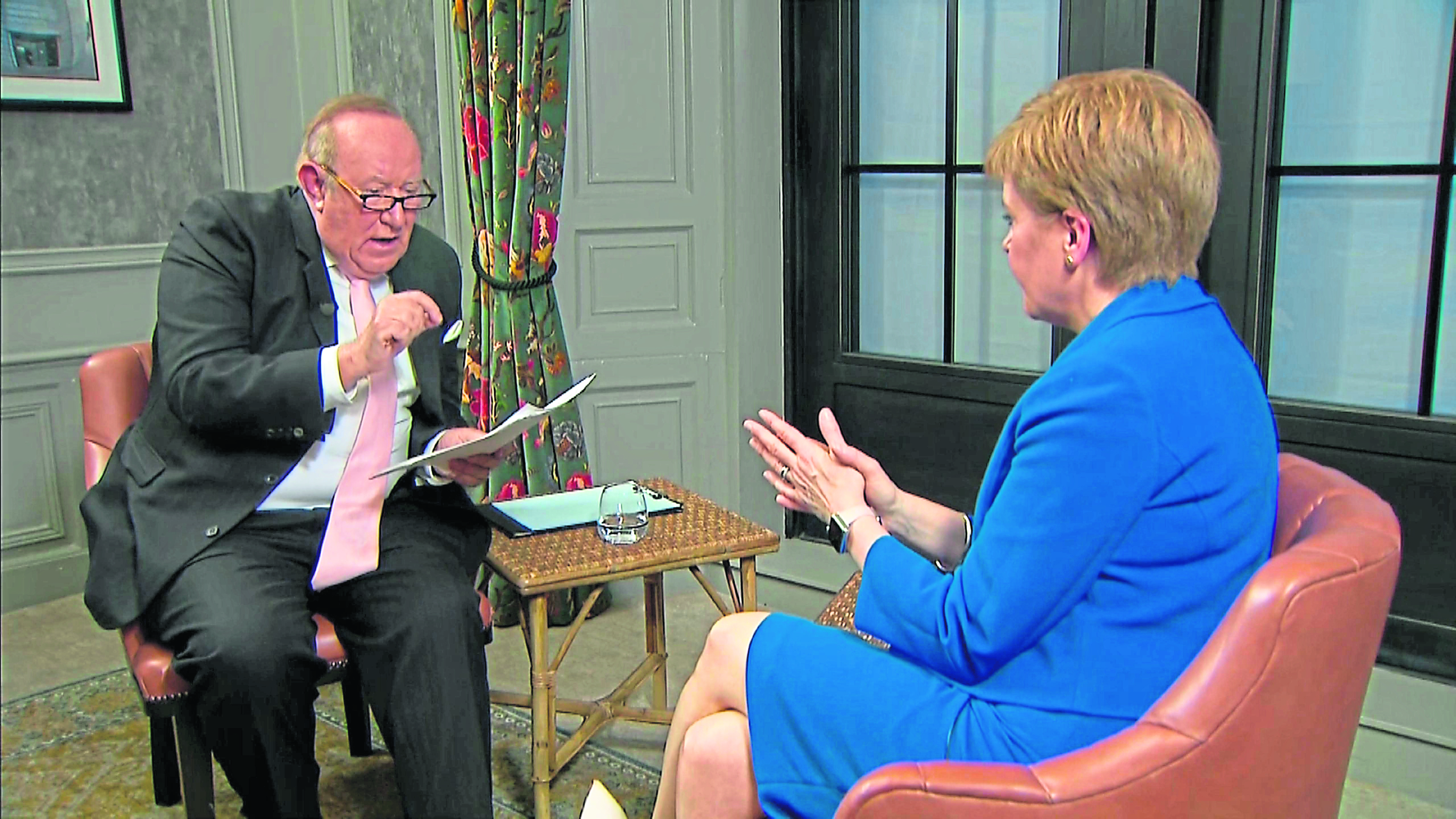 Nicola Sturgeon is interviewed by Andrew Neil.