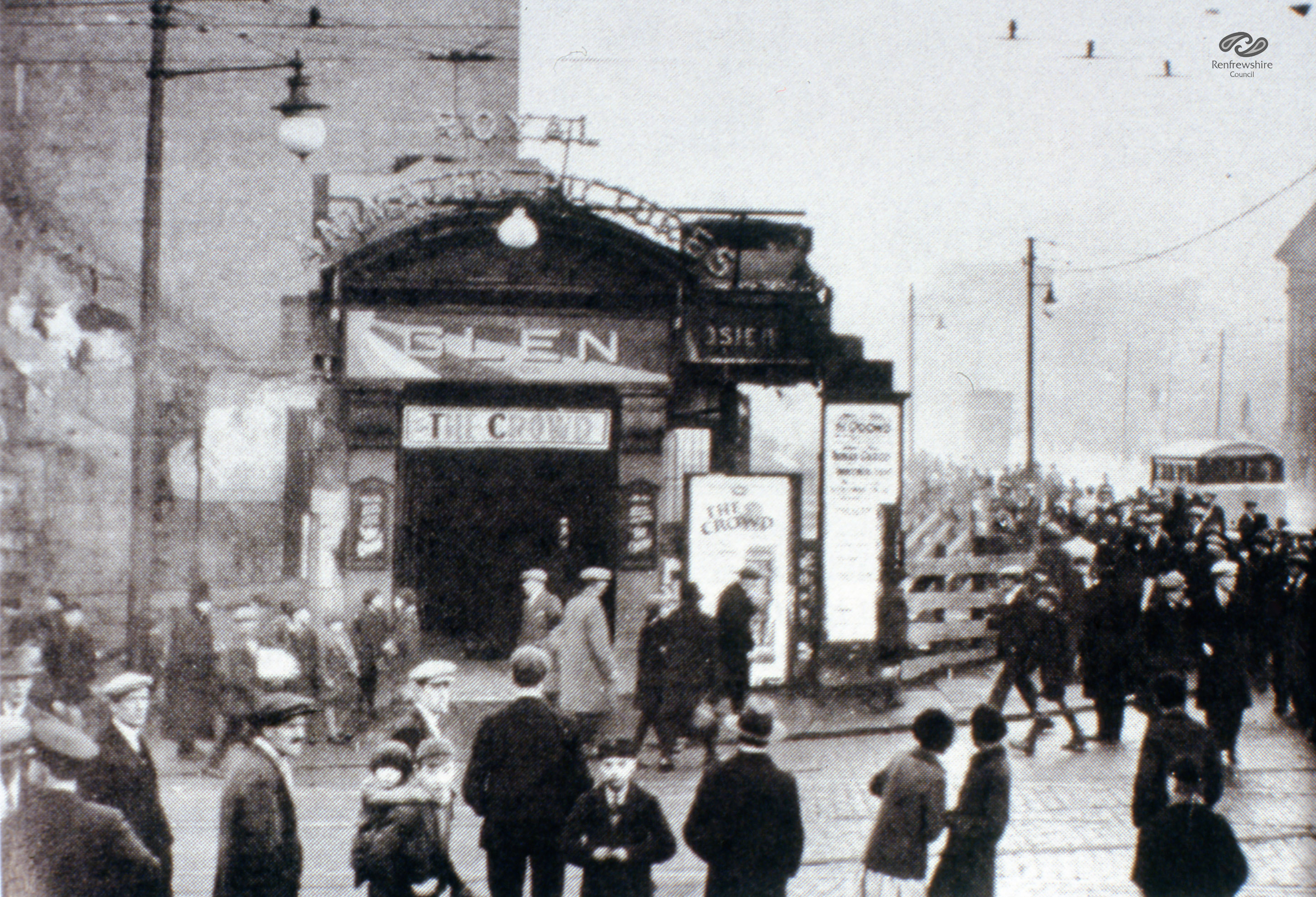 The Glen Cinema in Paisley, where 71 children died in December 31 1929 after a smoking film canister caused panic