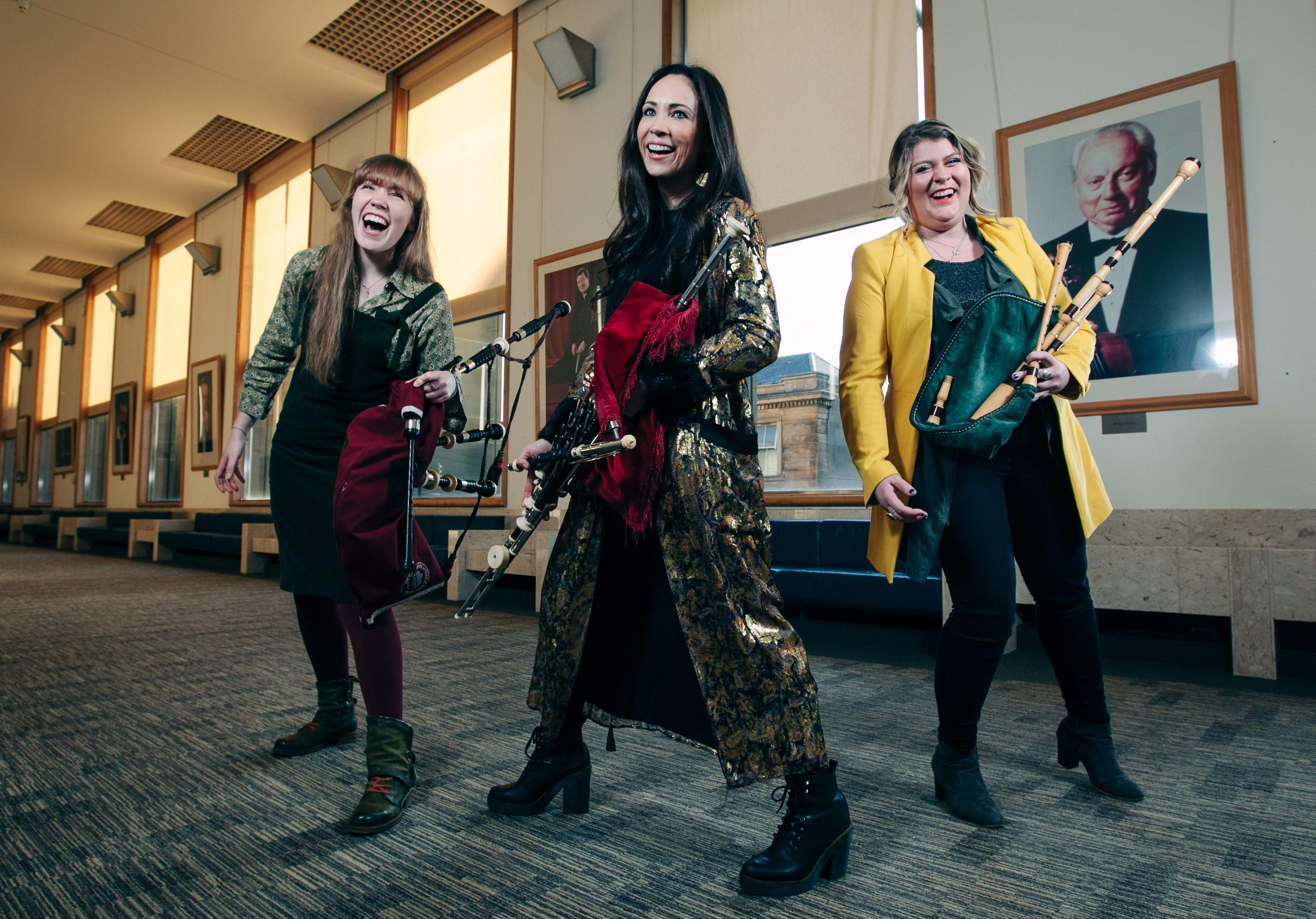 Musicians, left to right, Robyn Ada McKay, Louise Mulcahy and Alana MacInnes