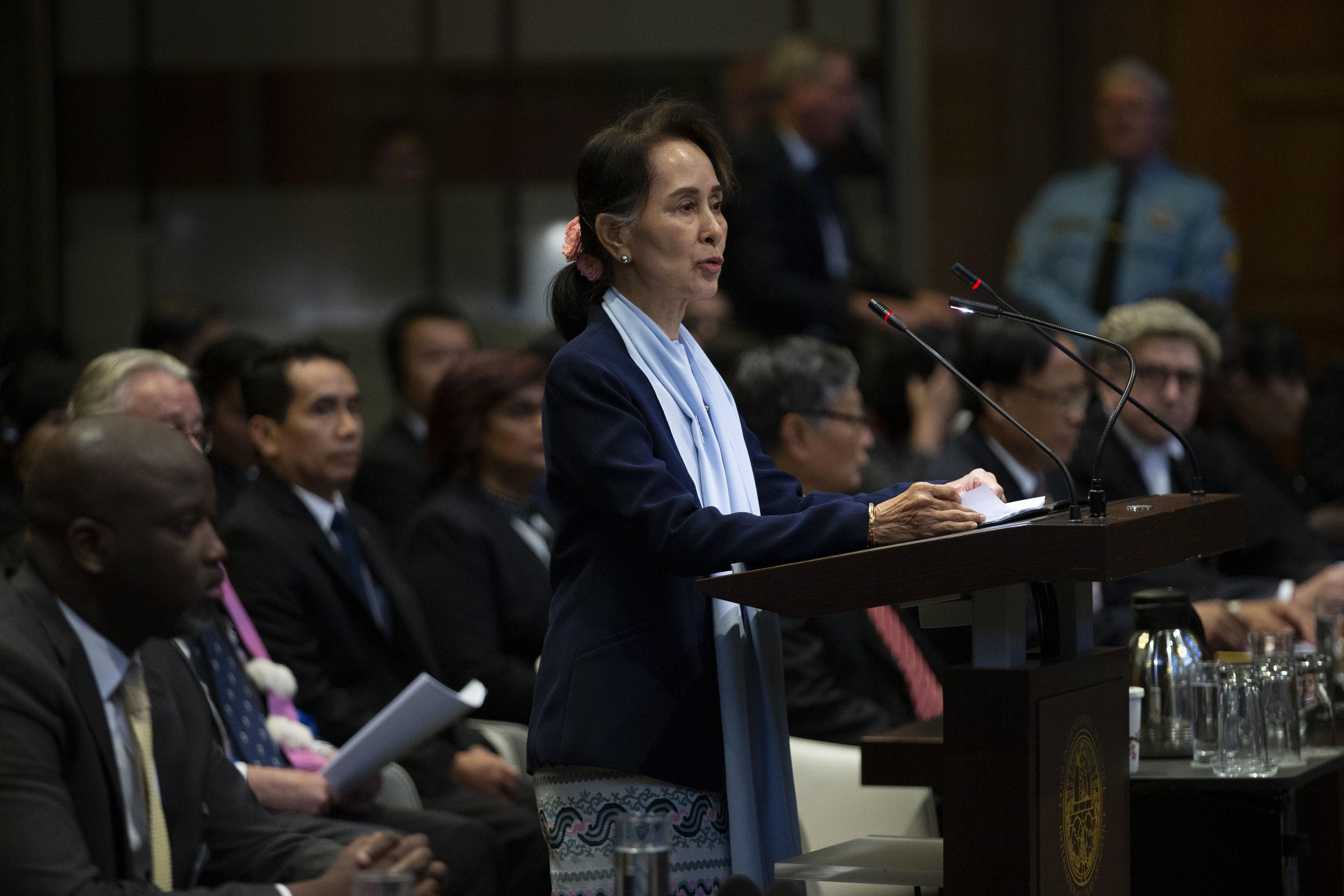 Aung San Suu Kyi in The Hague last week
