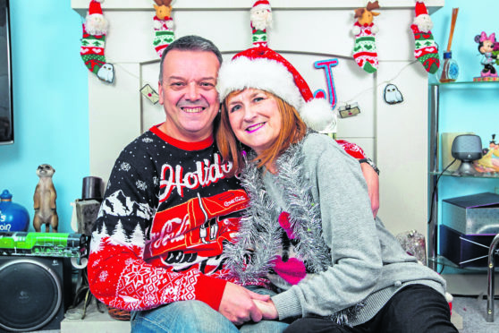 Julie and husband John are looking forward to  Christmas together after their miracle surgery.