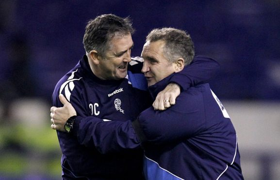 Owen Coyle and Sandy Stewart have enjoyed happy times together and aim to continue that in India