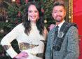 Sean Batty and Jennifer Reoch of STV as STV film their Hogmanay special at Craufurdland Castle.