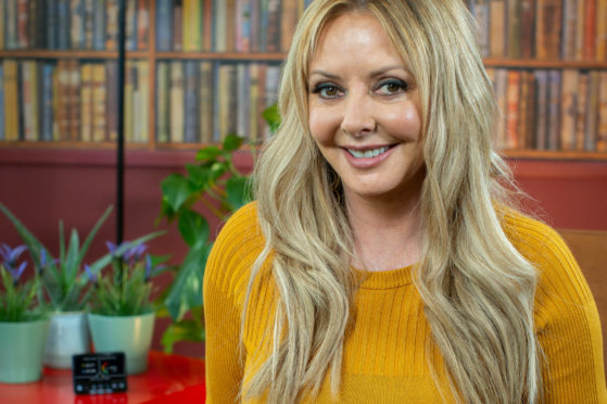 Broadcaster Carol Vorderman, with smart meter, is ambassador for energy kit