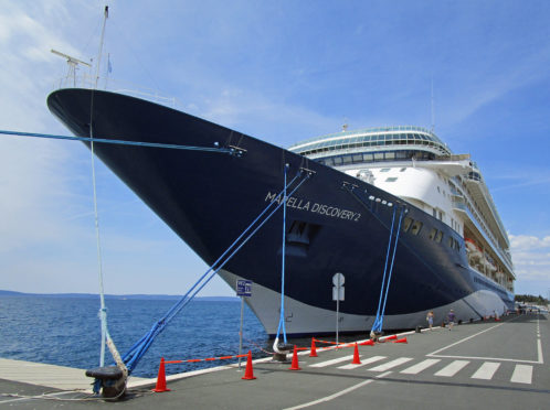 Tui liner Marella Discovery 2 which Mary and Terence Hogg booked for their cruise