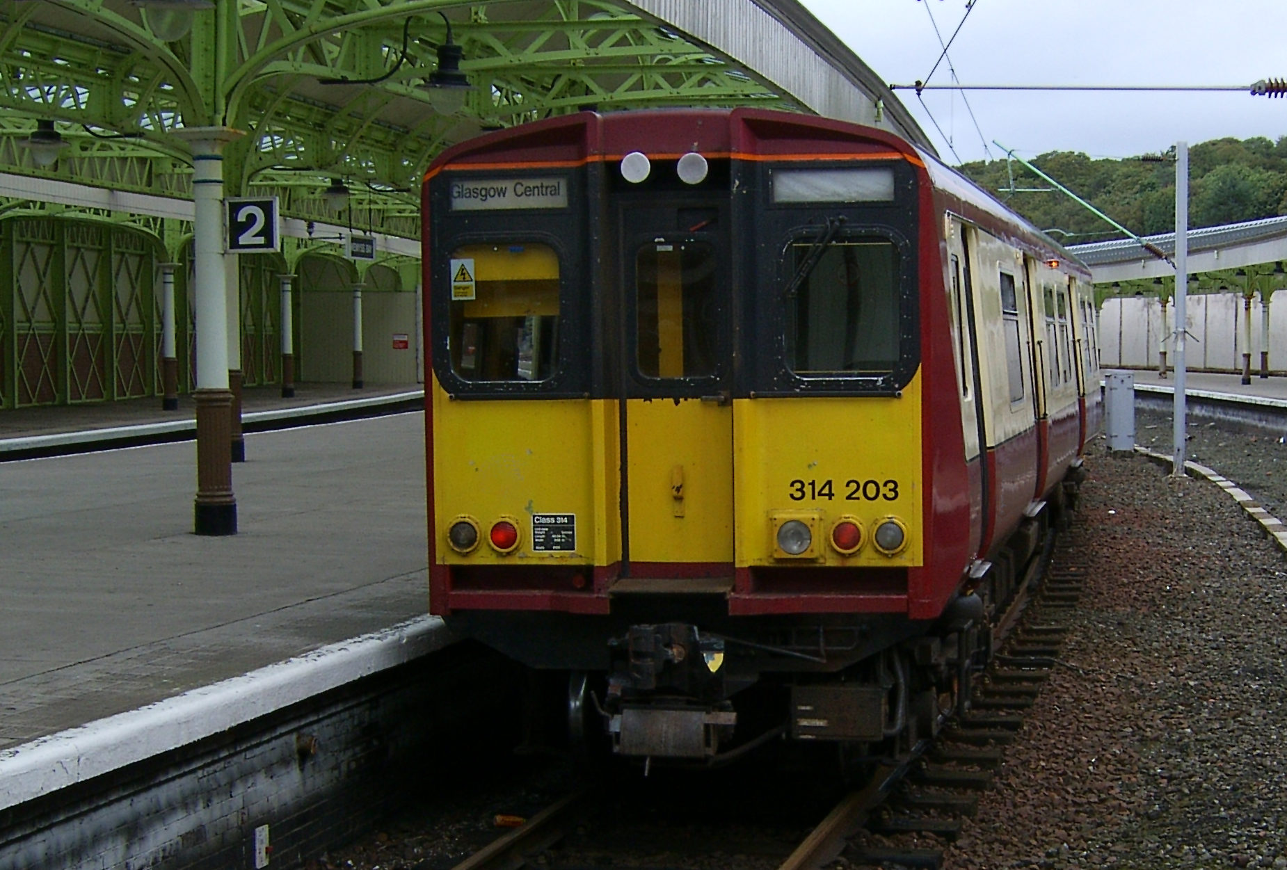 A ScotRail 314 train
