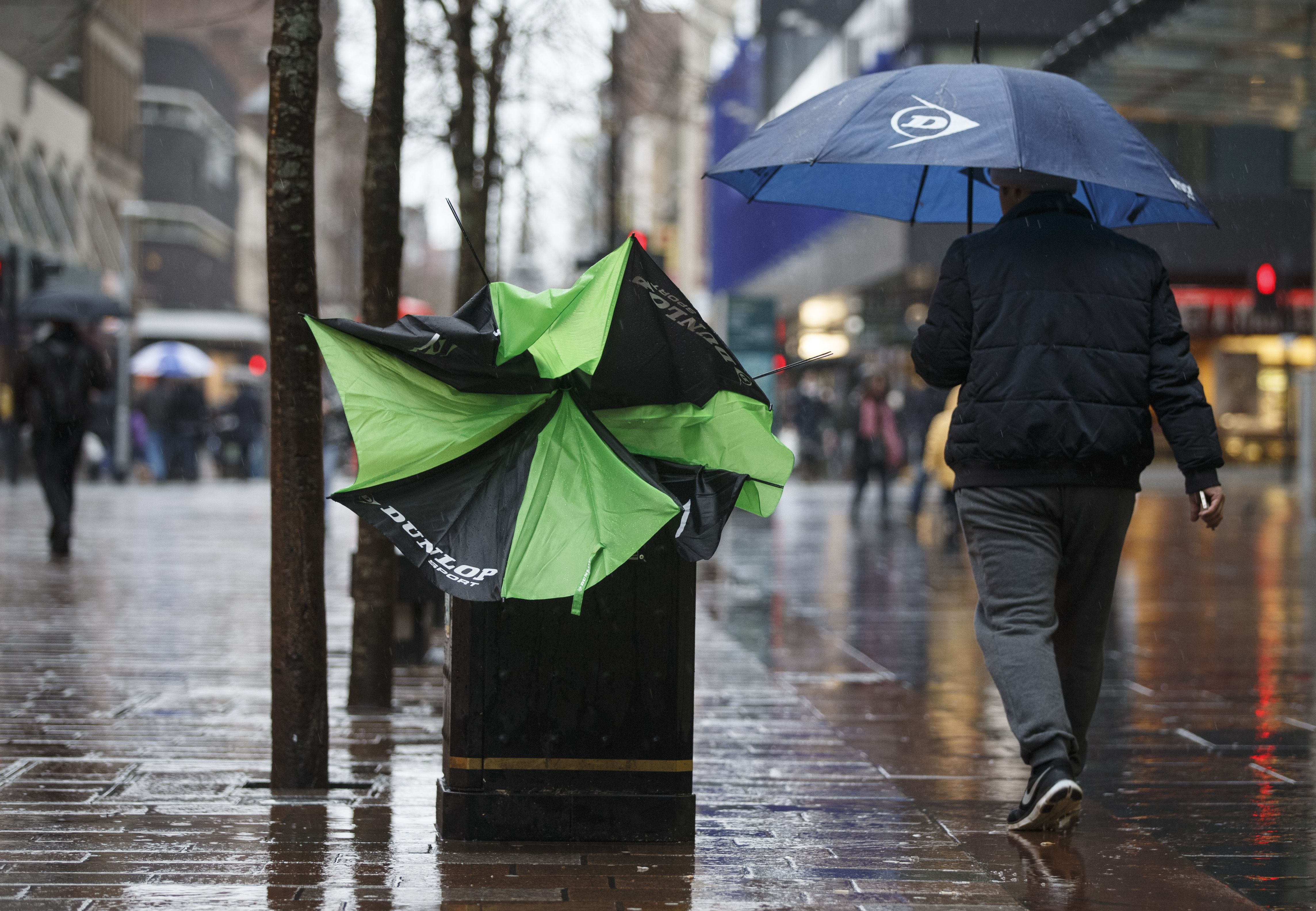 Strong winds and rain have hit this morning