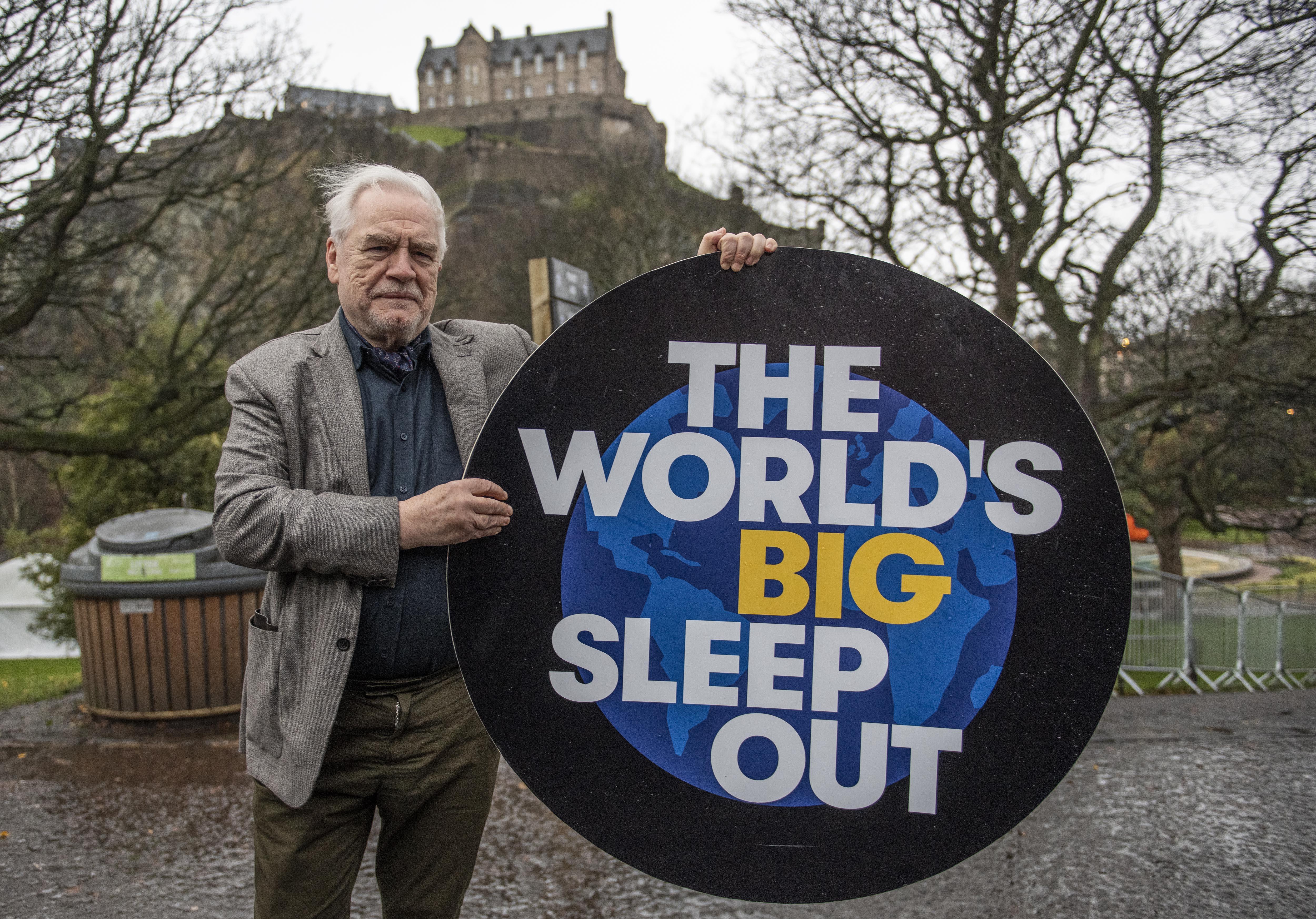 Succesion actor Brian Cox promotes the event in Edinburgh