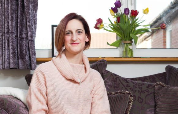 Louise Ross was diagnosed with cancer, but it was caught at an early stage when she had her regular smear test