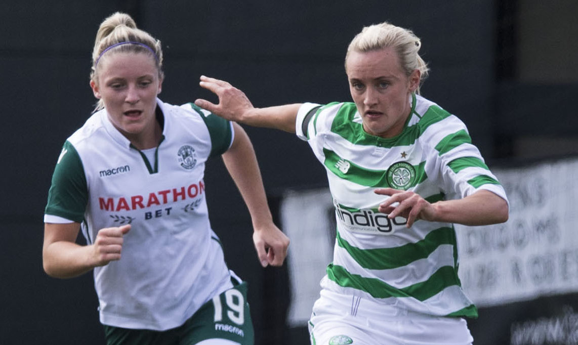 Natalie Ross (right) in action for Celtic