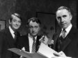 Derek Fowld (left) with Sir Nigel Hawthorne and Paul Eddington in Yes, Minister