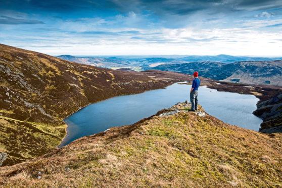 A glorious view over Loch Brandy in Glen Clova