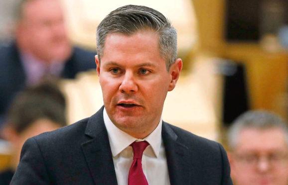 Finance minister Derek Mackay