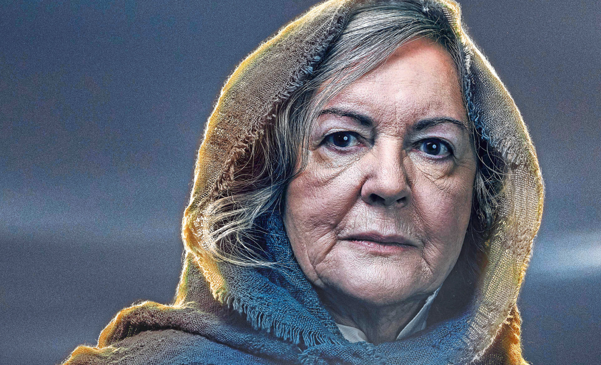 Gwen Taylor in a poster for her new stage play, The Croft
