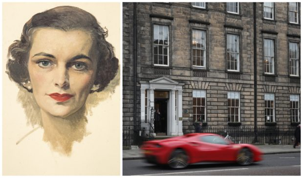 An oil sketch of Margaret, Duchess of Argyll by Sir Herbert James Gunn. She was one of the characters connected to 66 Queen Street, house of secrets in Edinburgh's New Town