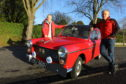 Brothers Colin, left, and Richard Levin beside their Austin A40